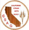 Logo of the California Straw Arts Guild designed by Christine Swanson.  Adopted in 2010.